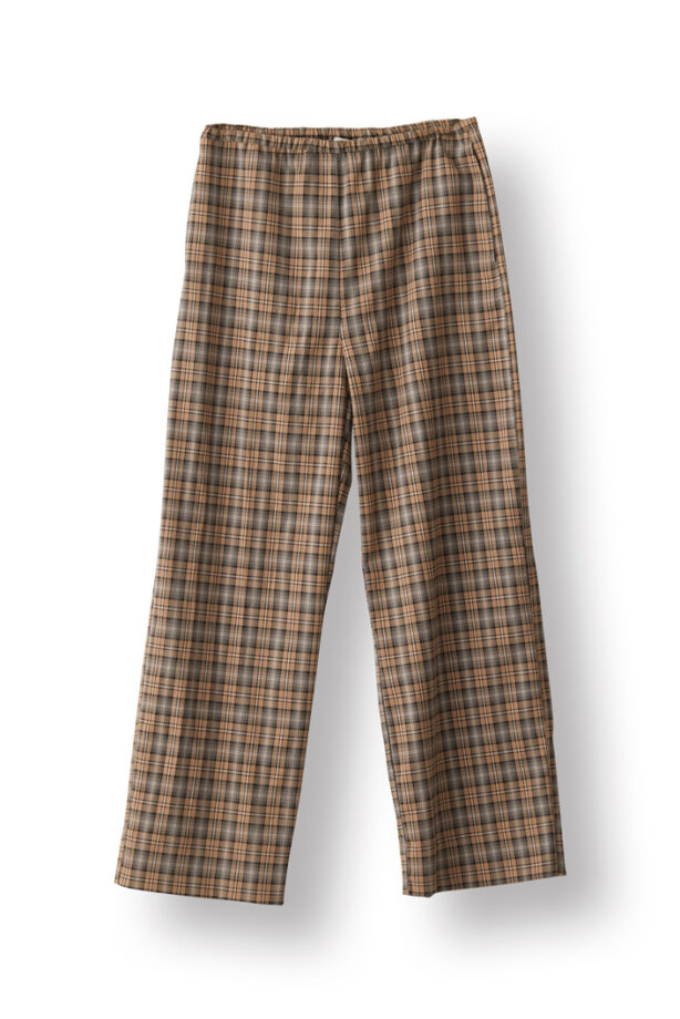 Norr 11862001 Davey pant beige check