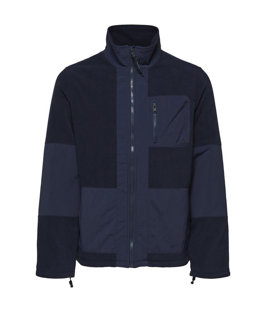 Selected Homme 16079388 Nohr fleece jkt Dark navy